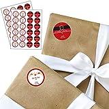 Jolly Santa - Small Round From: Santa Christmas Stickers - Set of 24