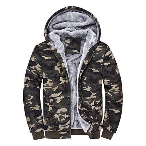 CuteRose Men Hoodies Tailored Fit PEA Coat Big & Tall Hooded Sweatshirt AS1 2XL (Tall Big And Coats)