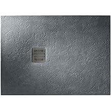 Roca - Plato de ducha extraplano de STONEX® - Serie Terran , Color Blanco