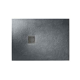 Roca – Plato de ducha extraplano de STONEX® – Serie Terran, Color Blanco