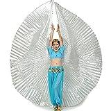 Calcifer Alas de Isis de para vestido, disfraz de la danza del vientre, egipcio para fiestas, Navidad, regalo, plata