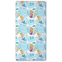Diseño de princesas de Disney para niños con diseño de sábana bajera ajustable 90 x 200 cm (p04)