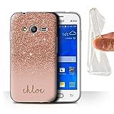Stuff4 Personnalisé Effet Paillettes Coutume Coque Gel/TPU pour Samsung Galaxy Trend...