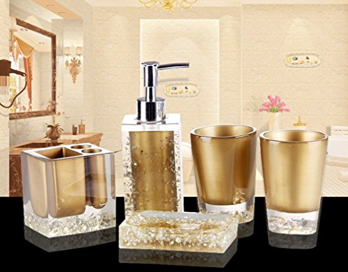 Badezimmer Set Gold