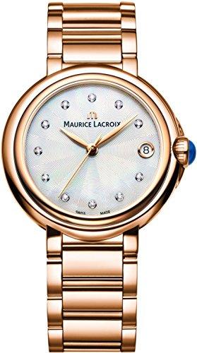 Maurice Lacroix Fiaba Round FA1004-PVP06-170-1 Damenarmbanduhr mit echten Diamanten