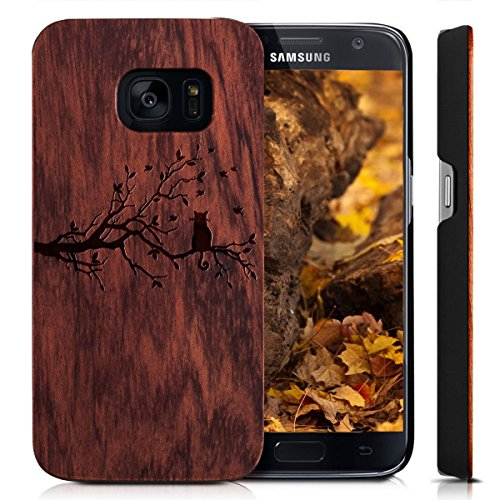 Cover Galaxy S7, Custodia Samsung S7, Custodia Case Cover di legno Naturale per Samsung Galaxy S7(5.1 Pollici) Bumper Rigida Cellulare Cover Protettiva in vero Legno Wood