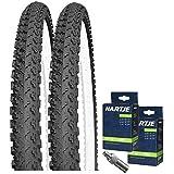 SET: 2 x Kenda K810 MTB Fahrrad Reifen 50-559 / 26x1.90 + SCHLÄUCHE Blitzventil