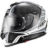 Casco de moto integral NZI Symbio Duo Graphics Dart Grey M