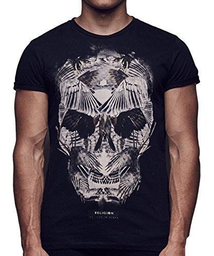 Religion Clothing Herren T-Shirt Shirt Wings Skull Schwarz