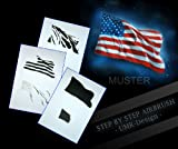 Step by Step Airbrush Schablone Amerikanische Flagge AS-077