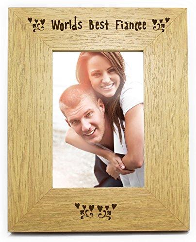 Chris bag of goodies mondi world' s best fiancee in legno 6x 46x 4cornice per foto regalo per compleanno, natale, san valentino, her