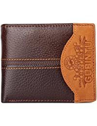 bc2d9dc52c12 Homme Portefeuille - GUBINTU Portefeuille Cuir Veritable Homme  Porte-Monnaie Carte Bourse Pochette Sac Voiture