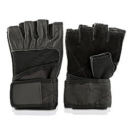 Profi Fitnesshandschuhe schwarz in verschiedenen Größen XL Original Lumaland