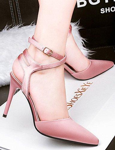 WSS 2016 Chaussures Femme-Décontracté-Noir / Rose / Rouge / Gris-Talon Aiguille-Talons-Talons-Soie pink-us5 / eu35 / uk3 / cn34