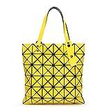 Donne borsette Plaid geometrica ripiegata borse a tracolla Casual Tote Borsetta Silve Ladies Bao Messenger Bag Mochila Bolsa giallo