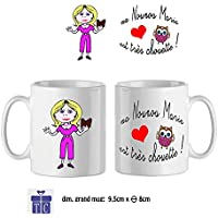 Texti-cadeaux-Mug à personnaliser, ma Nounou est très Chouette exemple Marie