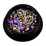Kanggest. Caja de Acrílico de los Diamantes Brillantes para Uñas Decoración de Arte de Uñas,Diamante de uñas, Decoraciones de uñas para Arte de uñas DIY(Colorido)