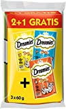 Dreamies Katzensnacks 2 plus 1 Gratis