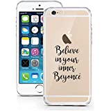 iPhone 6 Caso 6S por licaso® para el patrón de Apple iPhone 6 6S Believe in your Inner Beyoncè Hermosa TPU de silicona ultra-delgada proteger su iPhone 6S es elegante y cubierta regalo de coches