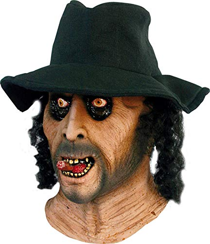 GHOULISH Halloween Kostüm - bestatter Maske - Gruselig böse Gesicht mit Hut und - Ghoulish Kostüm