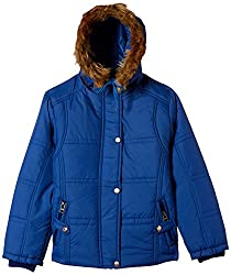 Qube By Fort Collins Girls Jacket (51355 FA_Royal_30(10 - 11 years))