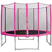 SixBros. SixJump 3,70 M Gartentrampolin Pink Intertek / GS geprüft Trampolin | Sicherheitsnetz | Lange Netzstangen - CST370/L1715