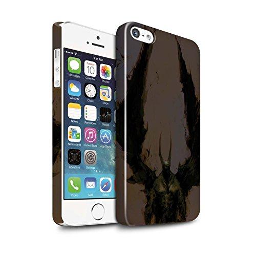 Offiziell Chris Cold Hülle / Glanz Snap-On Case für Apple iPhone SE / Pack 6pcs Muster / Wilden Kreaturen Kollektion Teufel/Tier