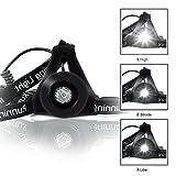 Brustlampe Wiederaufladbar NuoYo USB Nachtlicht Lauflicht Laufbeleuchtung Wasserdicht 3 einstellbare Helligkeiten mit Schultergurt für Joggen Gehen Outdoor Camping Radfahren