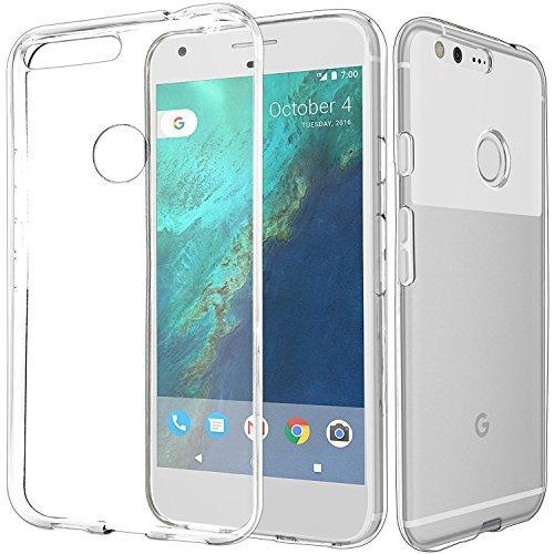 Preisvergleich Produktbild Connect Zone® Google Pixel (5.0 zoll),Google Pixel XL (5.5 Zoll) Kristall Klar Durchsichtig Zurück Silikon Gel Schutzhülle Cover Einschließlich Displayschutzfolie And Poliertuch