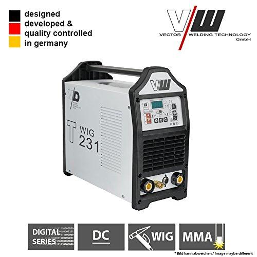 VECTOR Digital Schweißgerät DC WIG T231 Puls Inverter WIG ARC MMA STICK Elektrode…