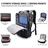 Business Laptop Backpack, MOSFiATA 15.6 Inch Business Backpack with USB Charging Port, Slim Lightweight Water Resistant Travel Laptop Backpack Rucksack Daypack for Business/Travel/College/Men/Women