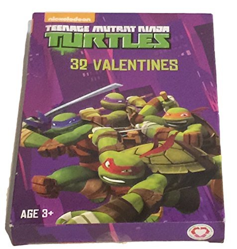 Paper Valentine's Day Cards - Set of 32 (TMNT) by Paper Magic