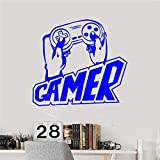 zhuziji Wxduuz Vinyl Wandtattoo Gamer Hände Joystick Video Game Player Aufkleber Wohnkultur...