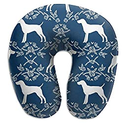 Great Gifts U Shaped Memory Foam Neck Pillow Neck Head Cushion Support Rest Outdoors Car Office Home Travel Pillow - German Shorthair Pointer Dog