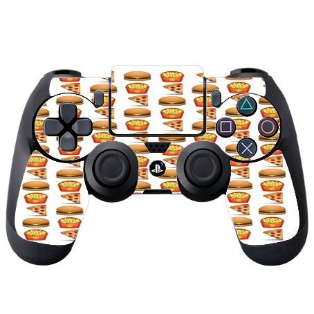 pizza-burger-and-fries-design-yum-ps4-dualshock4-controller-vinyl-decal-sticker-skin-by-debbies-desi