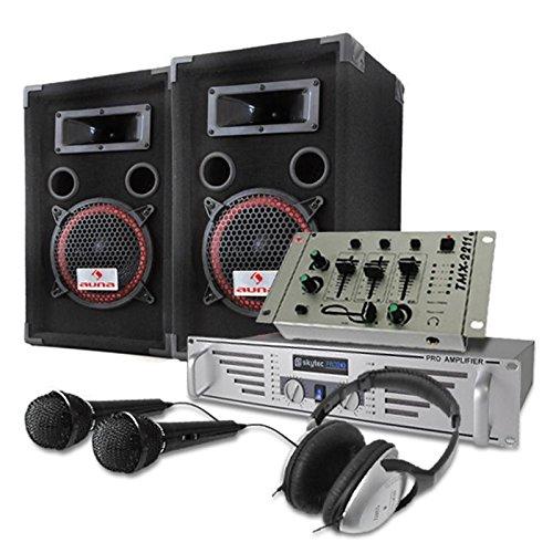Set DJ PA 1000W Altavoces Amplificador