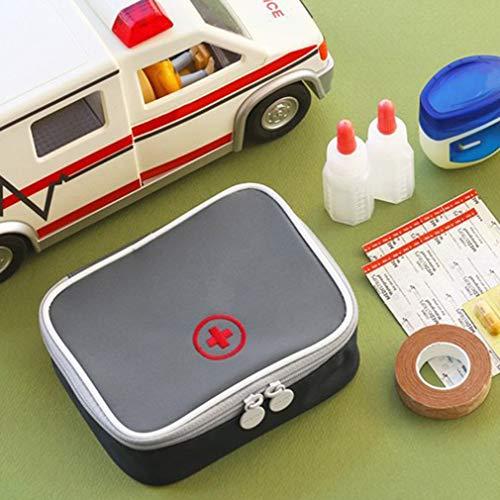 51Io0h4Cj7L - LeobooseMini Bolsa de botiquín de primeros auxilios para viaje al aire libre Paquete de medicina portátil Bolsas de equipo de emergencia Bolsa de almacenamiento de pastillas Pequeño organizador