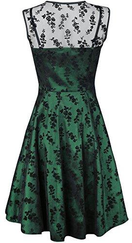 Voodoo Vixen Emerald Abito verde Verde