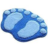 Kentop Badteppich Anti Rutsch Badezimmerteppich Fußspur Design Weiche Badematte Badevorleger für Badezimmer Kinderzimmer