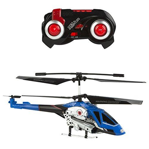 Sky Rover - Helicóptero teledirigido & pilotaje automático - 24 cm azul (ColorBaby 85004)