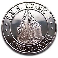 Titanic bañado en plata Beautyful moneda conmemorativa y regalo. Blanco Star Line Edición Aniversario romántico regalo presente