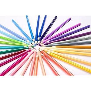 51Io22YyWzL. SS300  - Shuttle-Art-136-Juego-de-lpices-de-colores-para-adultos-con-libros-para-colorear
