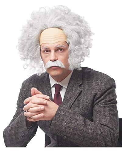 Physiker Kostüm - Horror-Shop Graue Einstein Perücke als Genie Kostüm Zubehör für Fasching