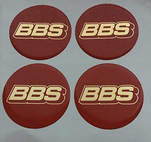 BBS ★4 Stück★ 50mm Aufkleber Emblem für Felgen Nabendeckel Radkappen