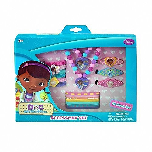 Disney Doc McStuffins Girls 15 Piece Jewelry and Hair Accessory Gift Box Set by Disney