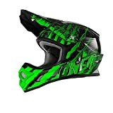 Casco Mx Oneal 2017 3Series Mercury Nero-Verde (M , Verde)