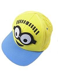 a7207eabbda Boys Minions Baseball Cap Summer Hat 4-6y 8-12y Interchangeable eyes (4-8 y)