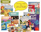 1st Grade & Kindergarten 8 Book Set Educational Activity Workbooks Worksheets Prep 2nd Graders Home School Learning...
