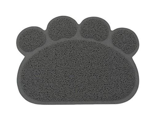 Ylen Pfote Geformt PVC Wurfmatte Katze Welpe Hunde Matte Platzdeckchen Rutschfest Haustier Essen Wasser Schüssel Futter Tischset (Fließendes Wasser Katze Schüssel)