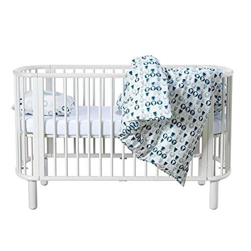 *Flexa mitwachsendes Baby- & Kinderbett aus Buchenholz in weiss mit TÜV-Siegel (0-6 Jahre)*